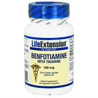 Life Extension - Benfotiamine with Thiamine 100 mg. - 120 Vegetarian Capsules