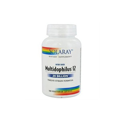 Solaray Multidophilus 12 - 20 billion microorganisms - 100 Vegetarian Capsules