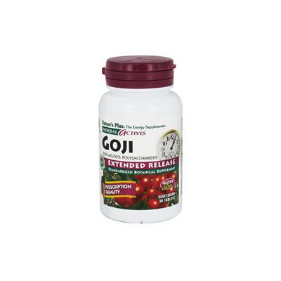 Nature's Plus Herbal Actives Goji - 1000 mg - 30 Vegetarian Tablets