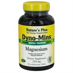 Nature's Plus Dyno-Mins Magnesium - 250 mg - 90 Tablets
