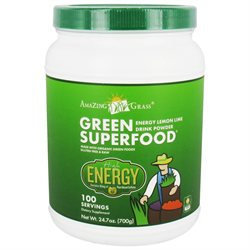 Amazing Grass Green SuperFood Drink Powder Lemon Lime - 24.7 oz - Vegan