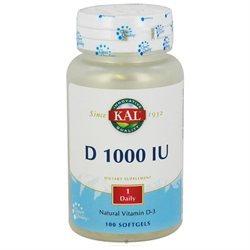 Kal - Vitamin D-3 1000 IU - 100 Softgels