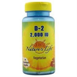 Nature's Life - Vitamin D-2 2000 IU - 90 Vegetarian Capsules