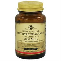 Solgar - Sublingual Methylcobalamin Vitamin B12 5000 mcg. - 30 Nuggets
