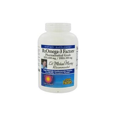 Natural Factors RxOmega-3 Factors, Softgels, 240 ea