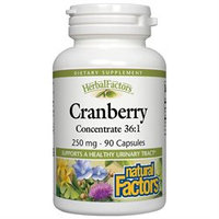 Natural Factors - Cranberry Concentrate 250 mg. - 90 Capsules