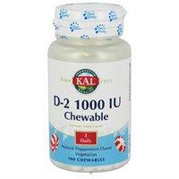 Kal D-2 Chewable Peppermint - 1000 IU - 100 Chewables