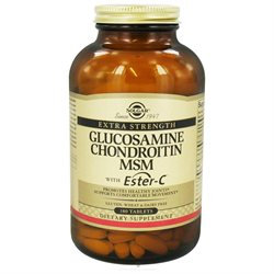 Solgar Extra Strength Glucosamine Chondroitin MSM with Ester-C