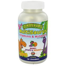 Kal Dinosaurs MultiSaurus Children's Vitamins and Minerals Berry Grape and Orange - 180 Chewables