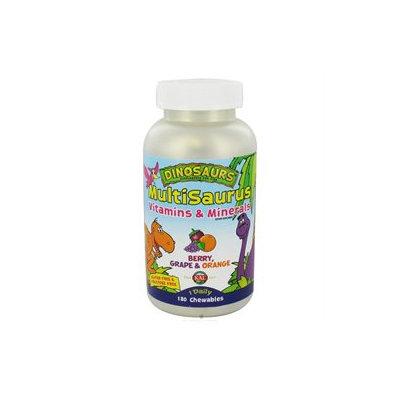 Kal Dinosaurs MultiSaurus Children's Vitamins and Minerals Berry Grape and Orange - 180 Chewables