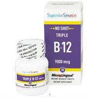 Superior Source - No Shot Triple B12 Instant Dissolve 9000 mcg. - 30 Tablets
