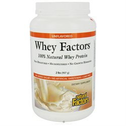 Whey Factors Unflavored by Natural Factors - 2 lbs.