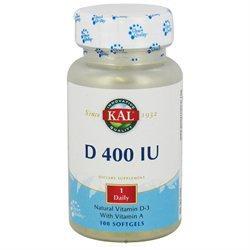 Kal - Vitamin D 400 IU - 100 Softgels