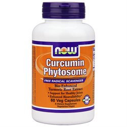 NOW Foods - Bio-Curcumin Phytosome Bio-Enhanced Turmeric Root Extract with Meriva 500 mg. - 60 Vegetarian Capsules