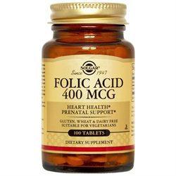 Solgar - Folic Acid 400 mcg. - 100 Tablets