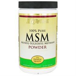 Lifetime 100% Pure MSM Powder - 2500 mg - 16 oz