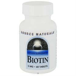 Source Naturals Biotin - 5 mg - 60 Tablets