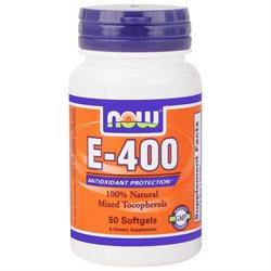 NOW Foods - Vitamin E-Mixed Tocopherols/Unesterified 400 IU - 50 Softgels