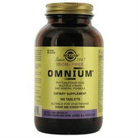 Solgar Omnium - 100 Tablets - Multivitamins without Iron