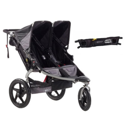BOB Revolution SE Double Jogging Stroller and Handlebar Console, Black, 1 ea