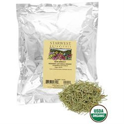 Starwest Botanicals Rosemary Leaf Whole Organic - 1 lb