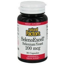 Natural Factors - SelenoExcell Selenium Yeast 200 mcg. - 90 Capsules