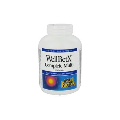 WellBetX Complete Multi by Natural Factors - 120 Tablets