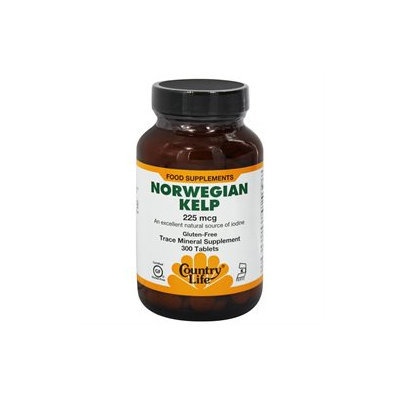 Country Life Norwegian Kelp - 225 mcg - 300 Tablets