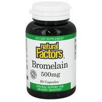 Natural Factors - Bromelain 500 mg. - 90 Capsules