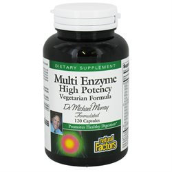 Multi Enzyme Vegetarian Formula 120 Capsules, Natural Factors