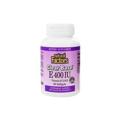 Natural Factors - Clear Base Vitamin E 400 IU - 60 Softgels