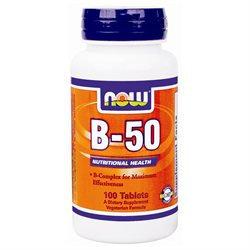 NOW Foods - Vitamin B-50 Vegetarian - 100 Tablets