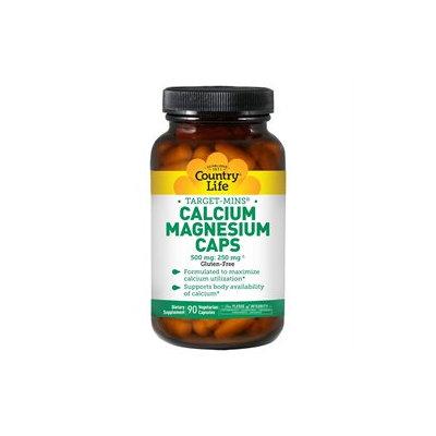 Country Life - Target-Mins Calcium-Magnesium Caps - 90 Vegetarian Capsules