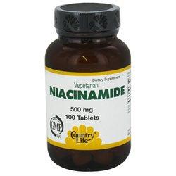 Niacinamide 500 Mg 100 Tab By Country Life Vitamins (1 Each)