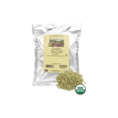 Starwest Botanicals Fennel Seed Whole Organic - 1 lb