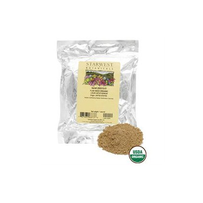 Starwest Botanicals Flax Seed Whole Organic - 1 lb