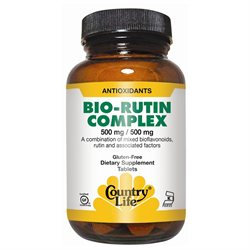 Country Life Vitamins Citrus Bioflavonoid/Rutin Complex 500/500 90 Tablets, Country Life