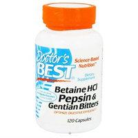 Doctor's Best Betaine HCl, Pepsin & Gentian Bitters