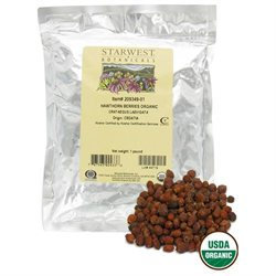 Starwest Botanicals, Hawthorn Berries Whole, Organic, 1 Lb