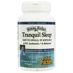 Stress-Relax Tranquil Sleep Enteric Coated, 90 Softgels, Natural Factors