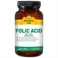 Country Life Vitamins Country Life Folic Acid - 800 mcg - 250 Tablets