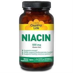 Niacin W/calci Coat 500 90 Tab By Country Life Vitamins (1 Each)