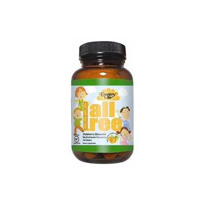 Country Life Vitamins Country Life Tall Tree Kid Multi Chewables, Orange-Pineapple