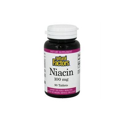 Vitamin B3 Niacin 100 mg by Natural Factors - 90 Tablets