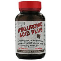 Only Natural Inc. Only Natural Hyaluronic Acid Plus - 814 mg - 60 Tablets
