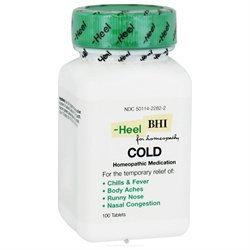 Heel BHI Cold Homeopathic Medication - 100 Tablets