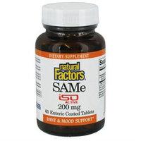 SAMe 200 mg by Natural Factors - 60 Tablets
