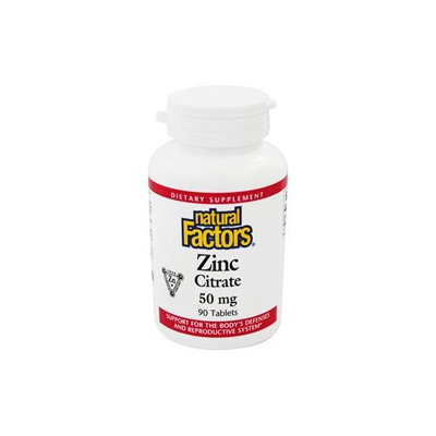 Natural Factors - Zinc Citrate 50 mg. - 90 Tablets