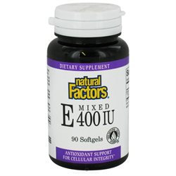 Natural Factors Mixed Tocopherol Vitamin E 400 Iu 90 Softgels
