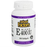Natural Factors Mixed E - 400 IU - 180 Softgels